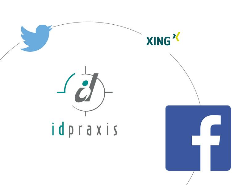 Twitter Xing Facebook Logos