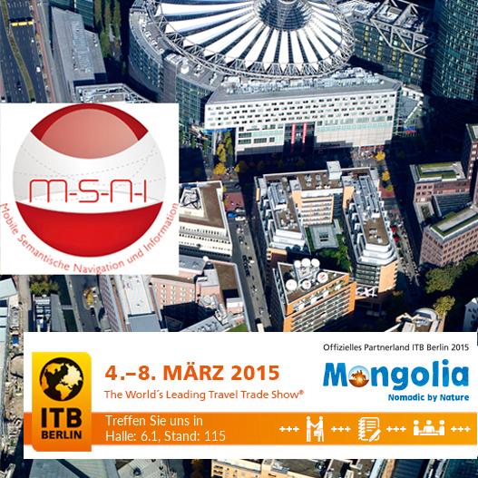 ITB Berlin und MSNI Logo vor Luftbild von Berlin