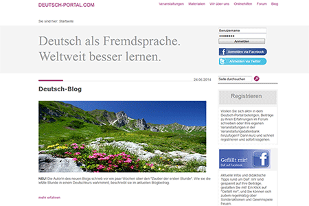 Screenshot Website deutsch-portal.com