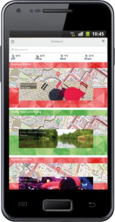 Smartphone mit jourway App