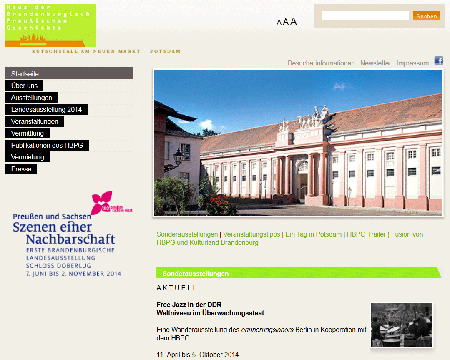 Screenshot Website hbpg