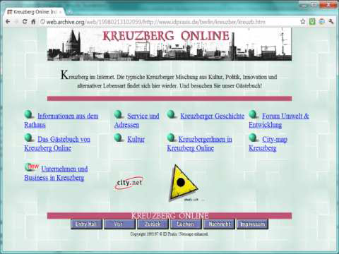 Screenshot Website Kreuzberg Online