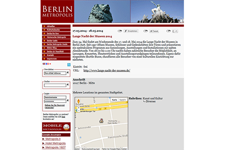 Screenshot Berlin-Metropolis.de